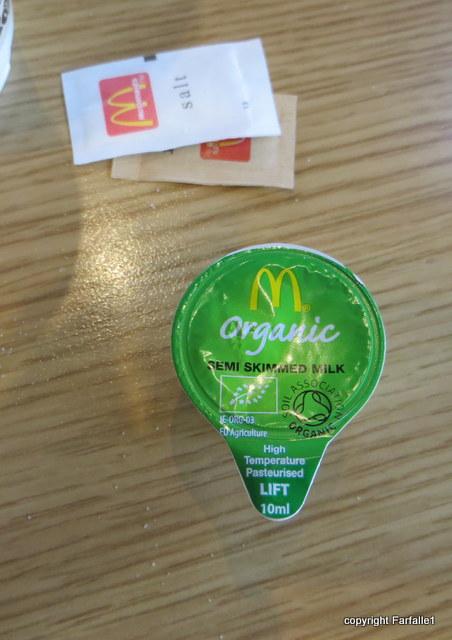 mcD organic milk