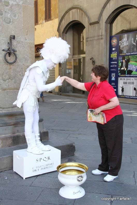 margaret gets a handshake