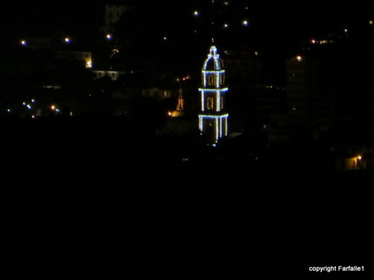 Rapallo cathedral alight