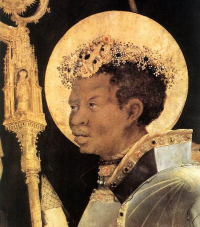 Nubian San Maurizio, painted between 1517 and 1523 by Matthias Gruenewald
