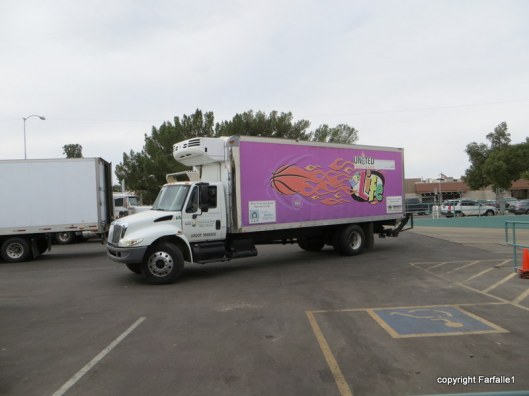 United Food Bank Tour colorful truck