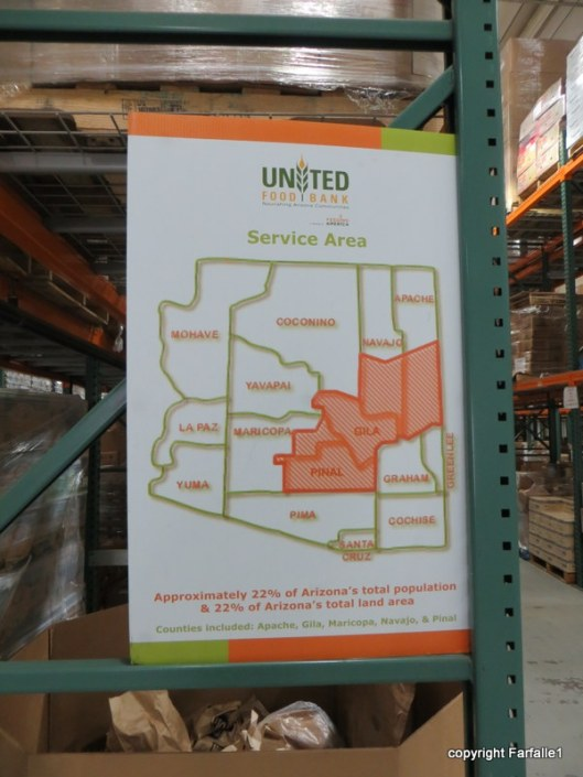 United Food Bank Tour service area