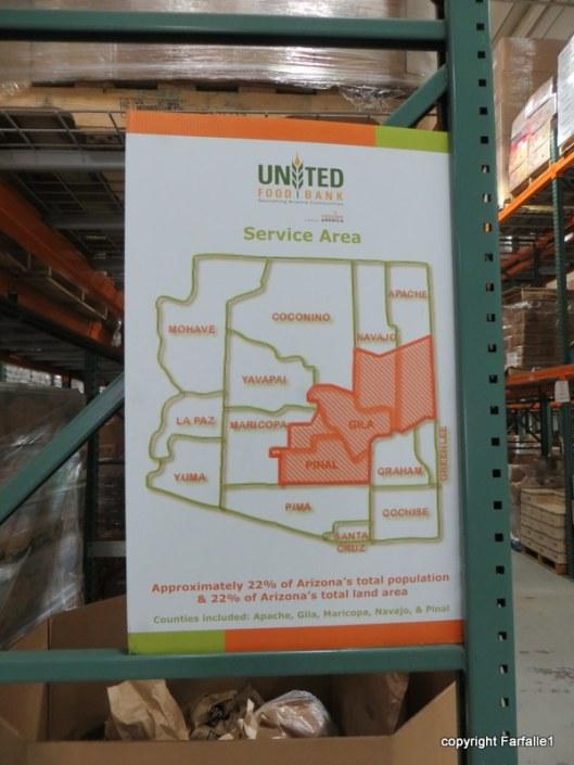 United Food Bank Tour service area