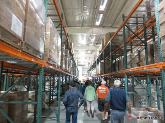 United Food Bank Tour warehouse