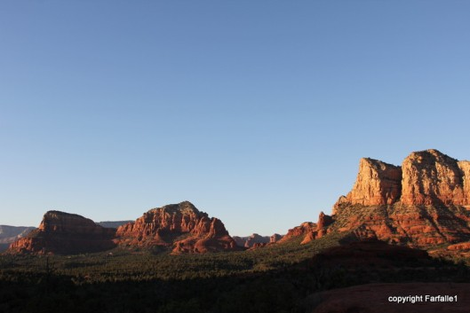 Sedona rocks in long light