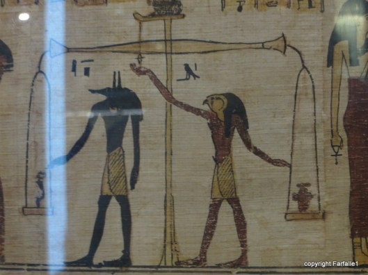 book of dead papyrus, weighing the spirit or heart