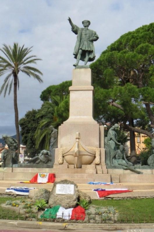 Columbus statue in Rapallo
