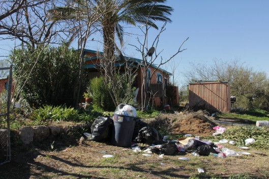 Superior House Tour rubbish outside house