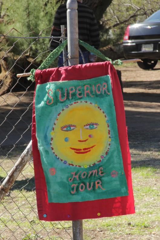 Superior House Tour sign